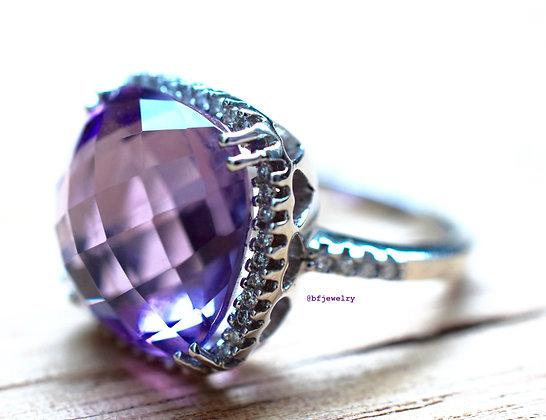 10.91 Carat Amethyst Ring