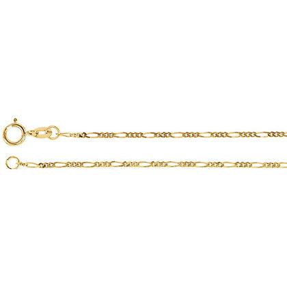 14K Gold Figaro Chain