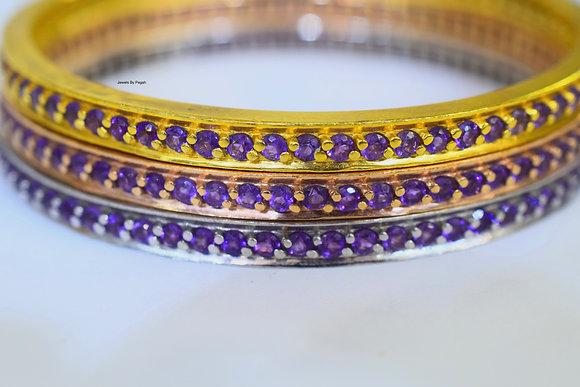 Any Color 14K Gold Amethyst Bangle
