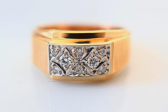 Vintage Unisex Diamond Ring