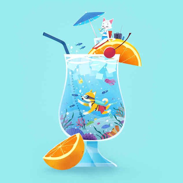 Cocktail Postacard
