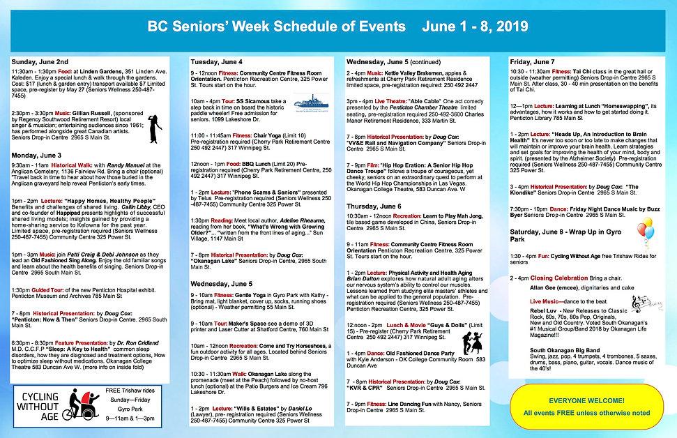 BC Seniors week schedule 2- final copy 2