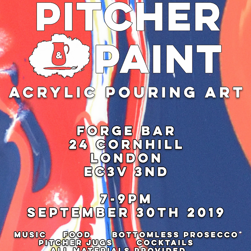 Pitcher & Paint: Acrylic Pouring Class - September 2019 - London