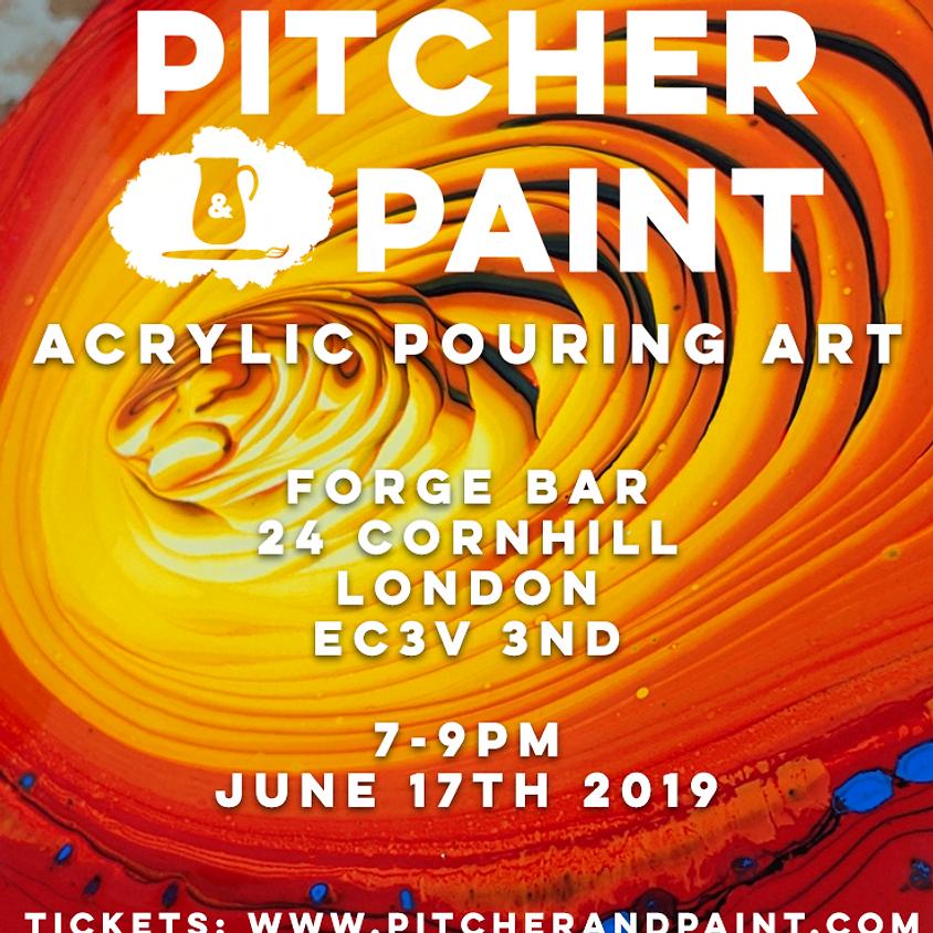 Pitcher & Paint: Acrylic Pouring Class - June 2019 - London