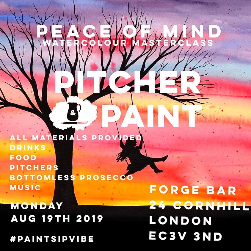 Pitcher & Paint: Peace of Mind Class - Aug 2019 - London