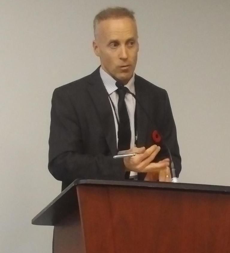 Steven Kurelek, Justice Canada opens respondent's argument in mock ICJ Climate change hearing