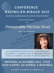 SQDI - Conférence Maximilien-Bibaud 2019 - Michèle Rivet
