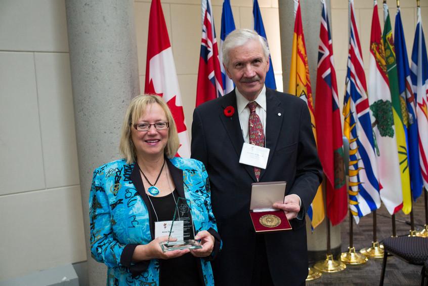 Award Recipients Anne Daniel and Armand de Mestral