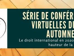 Série de conférences virtuelles du CCDI - Programme détaillé