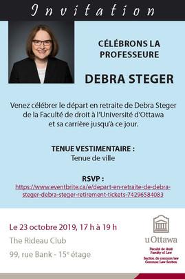 Célébrons la professeure Debra Steger