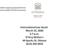International Law Social - Thursday, March 12, 2020 (5-7pm)
