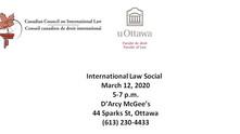 International Law Social - Thursday, March 12, 2020 (5-7pm)