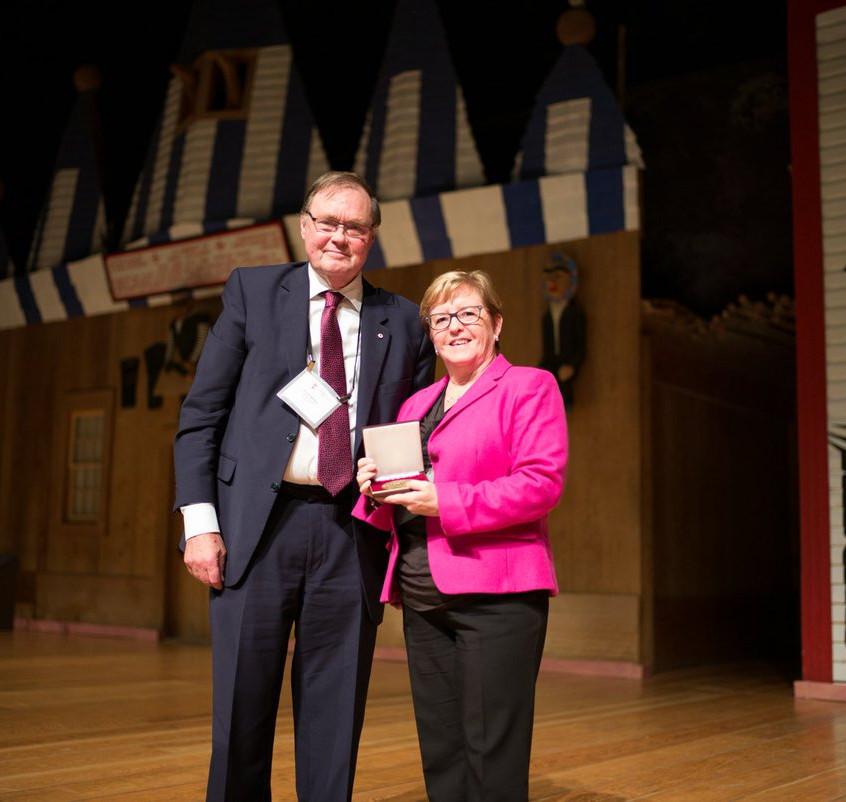 Prof. Donald McRae and John E. Read medal recipient Valerie Hughes