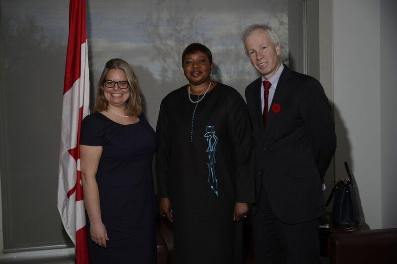 Adrienne Jarabek Marion, Fatou Bensouda and Stéphane Dion