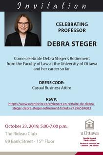 Celebrating Professor Debra Steger