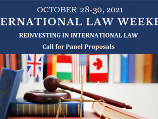 International Law Weekend 2021: Call for Panel Proposals