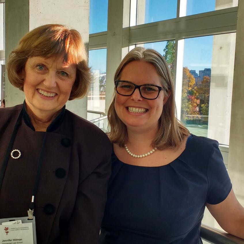 Prof. Jennifer Hillman and Adrienne