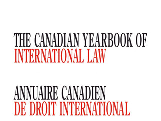 Canadian Yearbook of International Law:  Call for Submissions - Volume 58 (2020)
