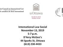 International Law Social - Wednesday, November 13, 2019 (5-7pm)