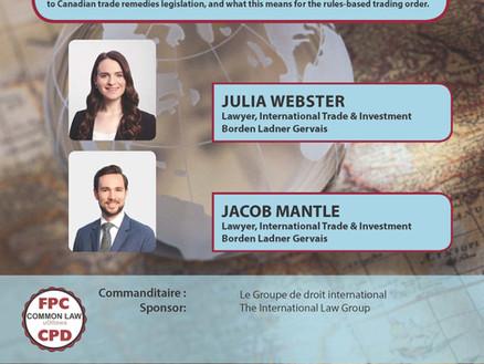Série de conférences en droit international