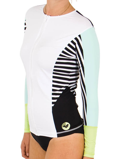 Ladies Oceana Zip Front Long Sleeve