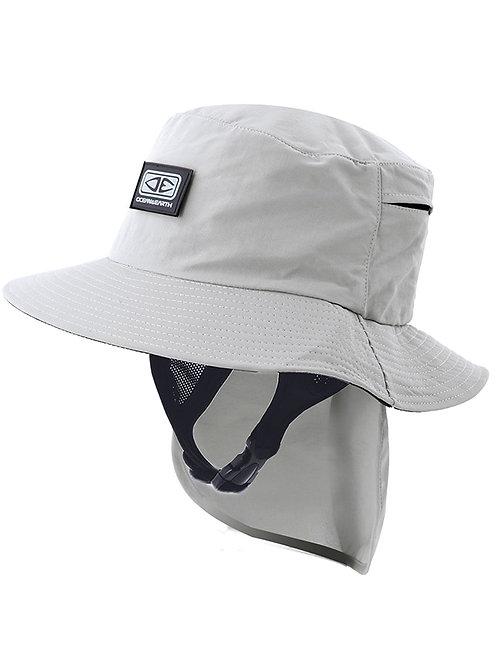 Mens Indo Stiff Peak Surf Hat - Grey