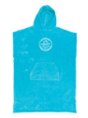 Ladies Hooded Poncho Aqua