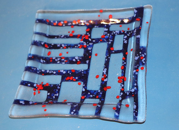 Blue and Red Plate