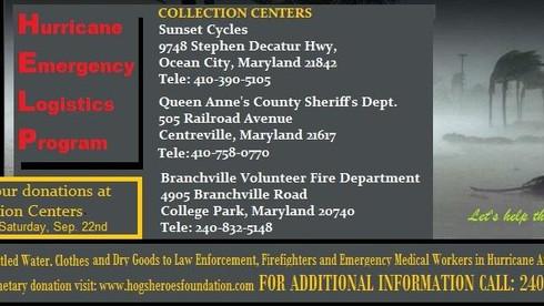Hogs and Heroes Foundation has setup three H.E.L.P. (Hurricane Emergency Logistics Program) Centers.