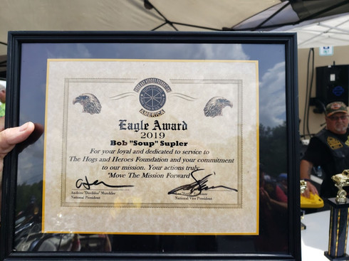Hogs and Heroes Eagle Award Presented at 2019's Back The Blue Event.