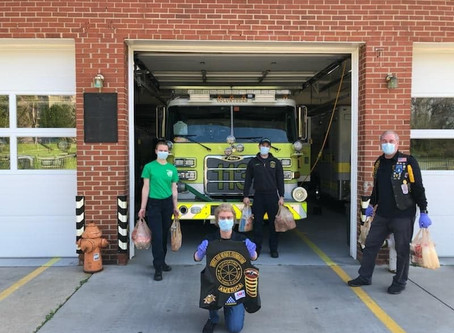 The Hogs and Heroes Foundation Delivers Grocery List of Goods to the Branchville Volunteer Fire Depa