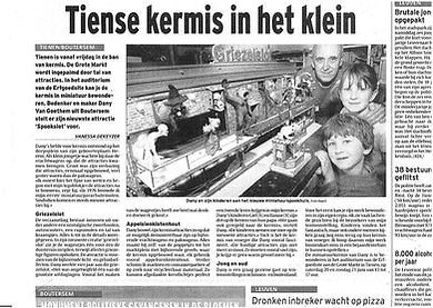Krantenartikel Miniatuurkermis Dany Van Goethem