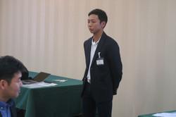 男子三年生 阪堂さんの挨拶