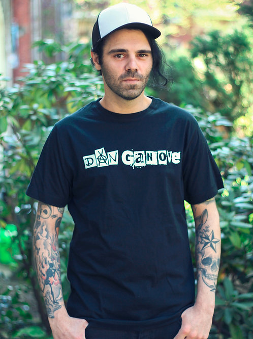"""""""Dan Ganove"""" Schriftzug Shirt (schwarz)"""