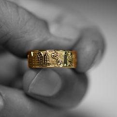 Mainzring Gravur Gold