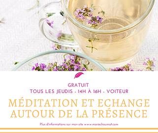 Méditation et echange autour de la Prése