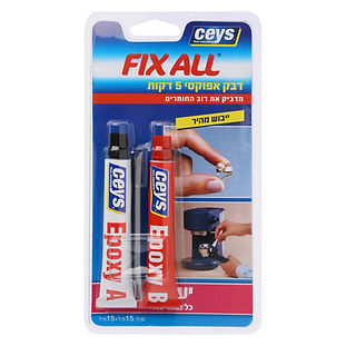 Fixall - דבק אפוקסי 5 דקות
