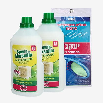 חבילת סבון דה מארסיי לשטיפת כל סוגי הרצפות