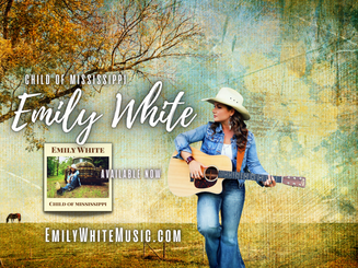 Emily White, rising country music star and acclaimed Mississippi songwriter.