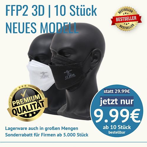 10 Stück FFP2 3D NEUE MODELL