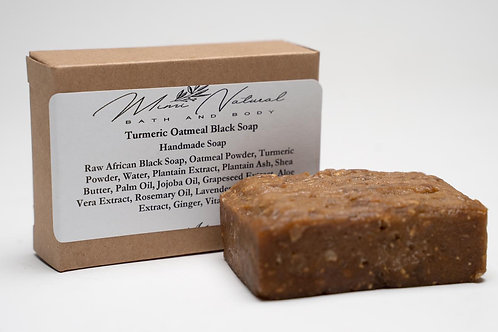 Turmeric Oats Ginger Black Soap
