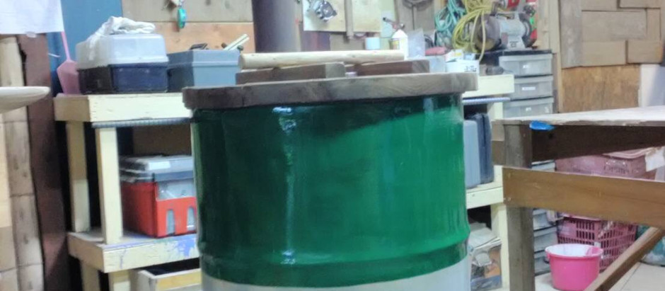 「DIYドラム缶燻煙器完成」