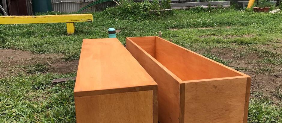 「商品ディスプレイ木製ボックス」