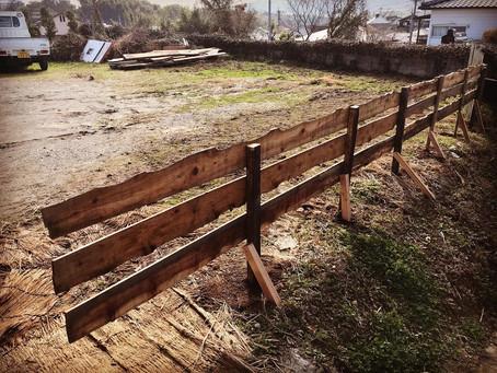「リカバリーファームプログラム釜戸作りと柵作り」