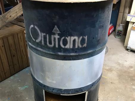 「ドラム缶燻製器」