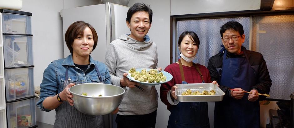 「カフェ(食育)プログラム ふきのとうの天ぷらに挑戦」