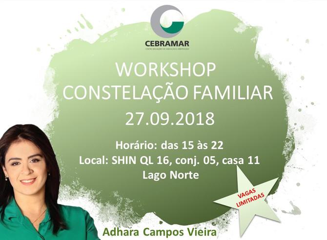 Workshop Constelação Familiar - 27 de setembro de 2018