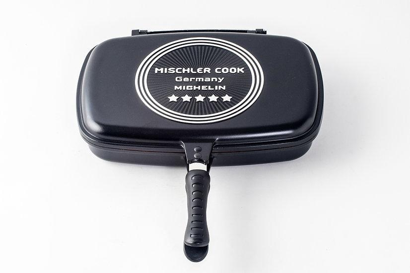Double Grill pan, 32 cm, black