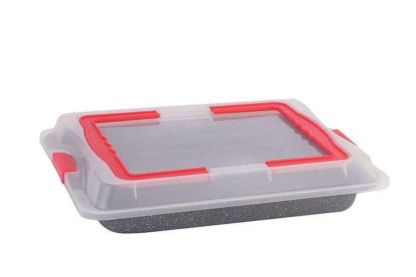 2 in 1 bake tray / cake carrier