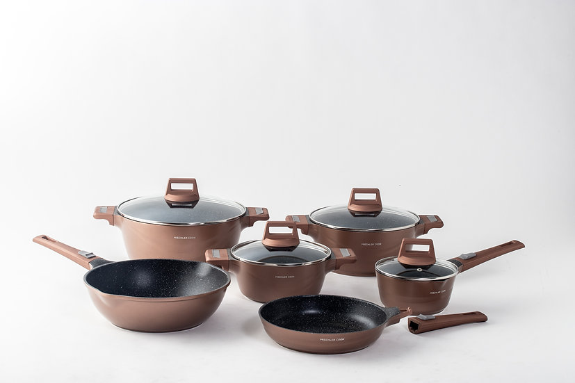 Die cast aluminium set, 10 pieces - copper